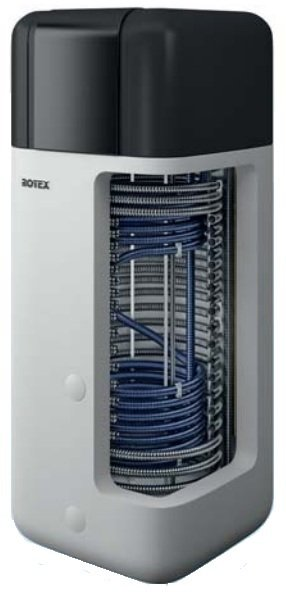 Accumulo termico e dispersione pompa di calore Rotex HPSU Compact