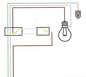 schema elettrico punto luce deviato