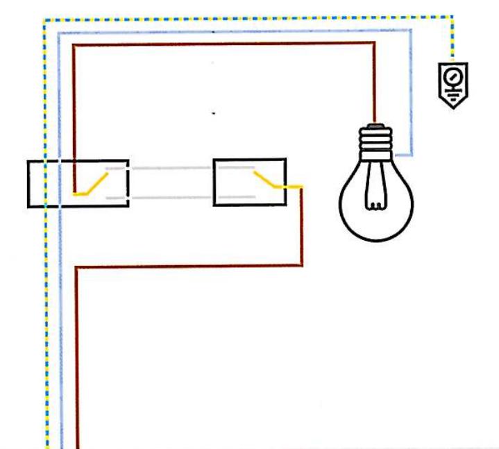 Schema Elettrico Punto Luce : Punto luce deviato deviatore schema la mia casa elettrica