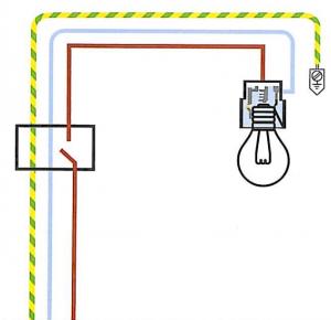 Schema elettrico punto luce interrotto