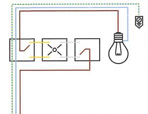 schema elettrico punto luce invertito