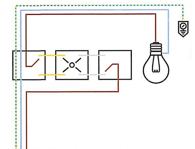 Punto Luce Invertito Deviatore E Invertitore Elettrico Schema
