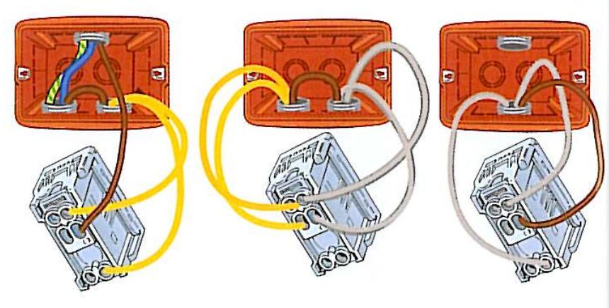 Punto luce invertito deviatore invertitore elettrico