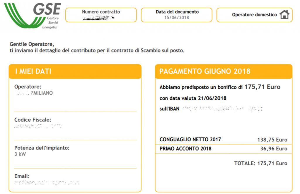 Pagamenti GSE 2018