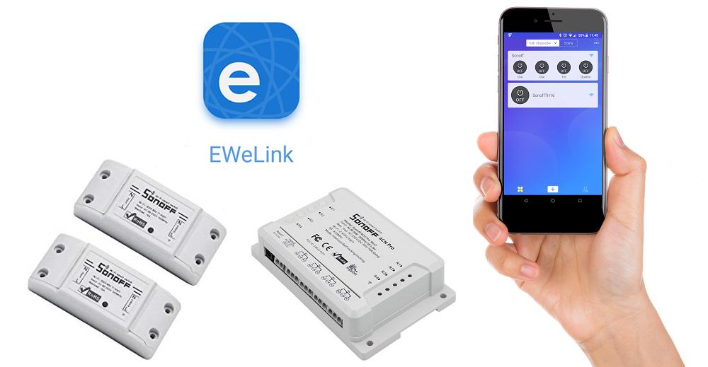 eWeLink App Sonoff istruzioni in italiano complete per interruttori WiFi