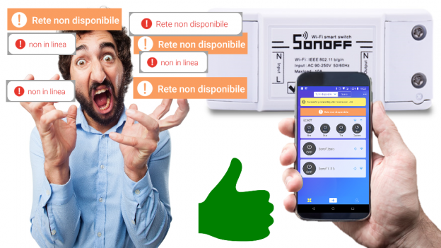 Sonoff dispositivo non in linea | Sonoff LAN | Sonoff rete non disponibile