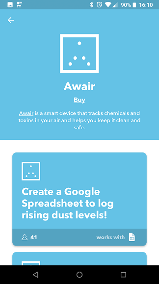 Awair 2nd Edition IFTTT