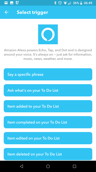 Applets IFTTT Alexa