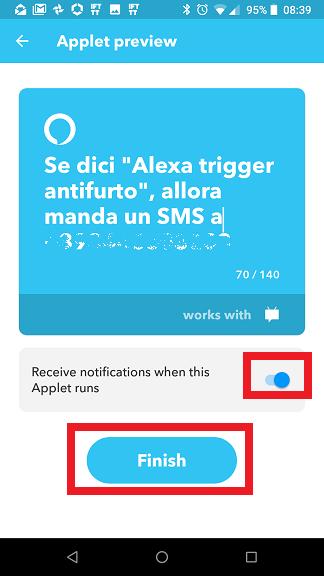 Applet Alexa IFTTT completa