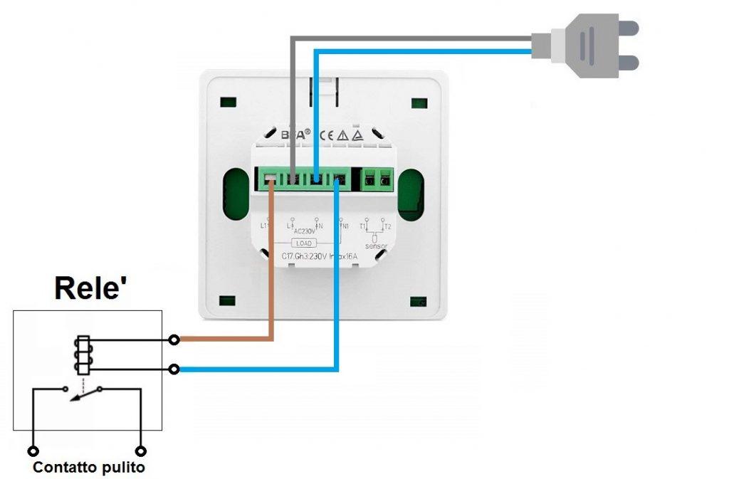 Welquic Termostato WiFi Smart LCD Rele' esterno