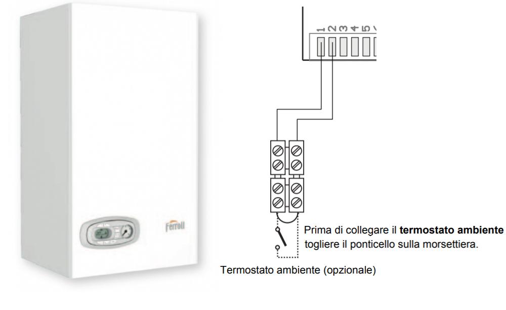 Schema elettrico collegamento termostato caldaia
