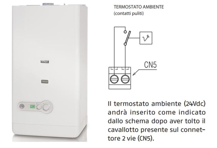 Schema elettrico collegamento termostato 2 fili alla caldaia