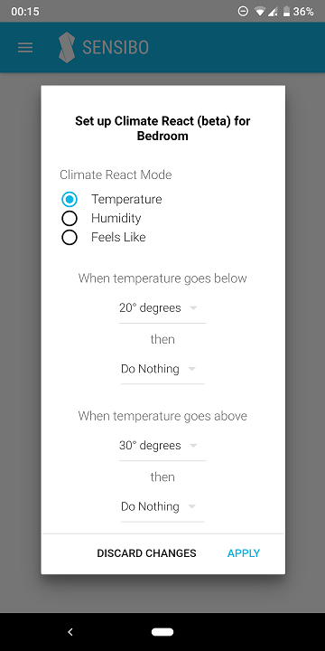 Sensibo Sky Climate React