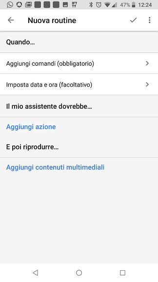 Routine personalizzata Google Home