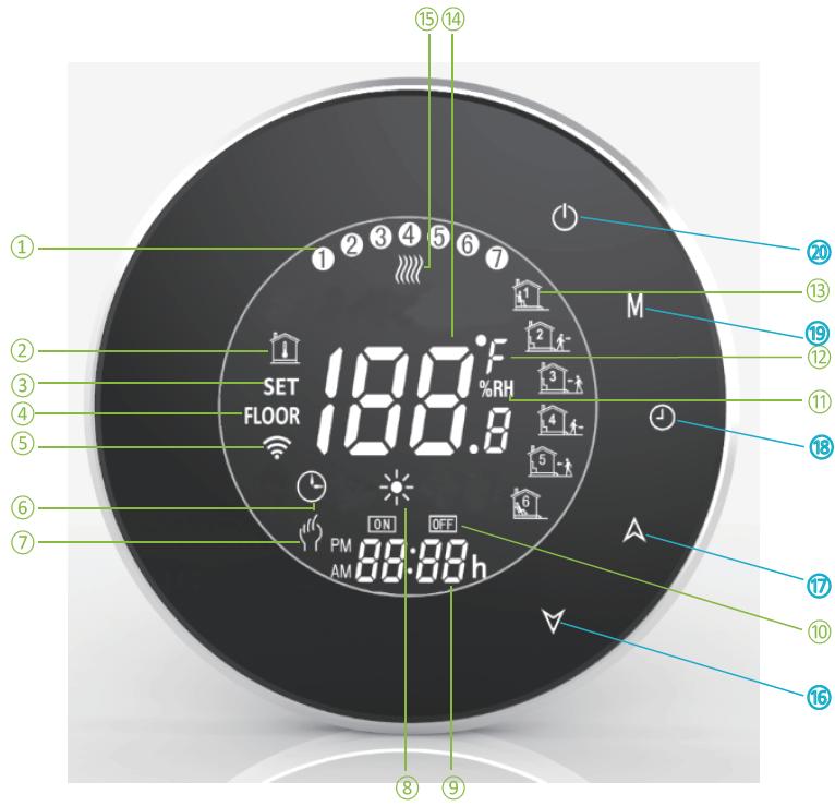Decdeal BHT-6000-GC termostato WiFi