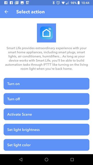 Smart Life IFTTT