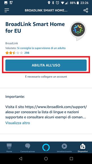 Broadlink Alexa IHC for EU