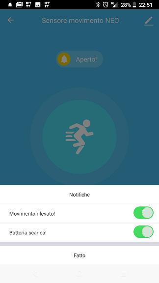 Sensore di movimento WiFi NEO Smart Life