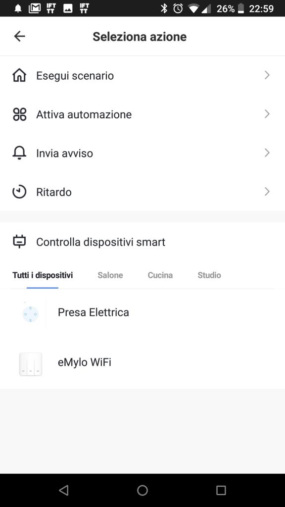 Scenario Smart Life Accensione Luci Sensore di Movimento WiFi NEO crepuscolare