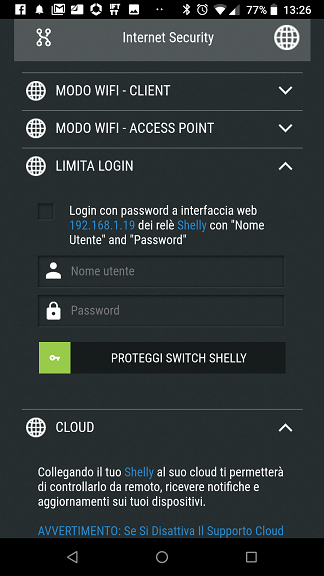 Shelly Cloud Limita Login