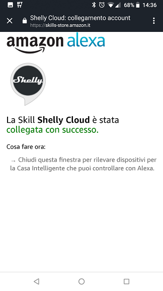 Shelly Cloud Alexa