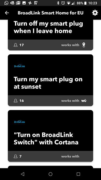 Broadlink IFTTT