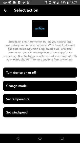 IFTTT Broadlink