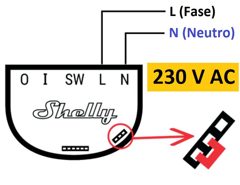 Sonoff 1 AC schema elettrico