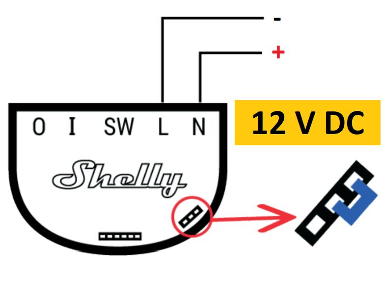 Sonoff 1 DC schema elettrico