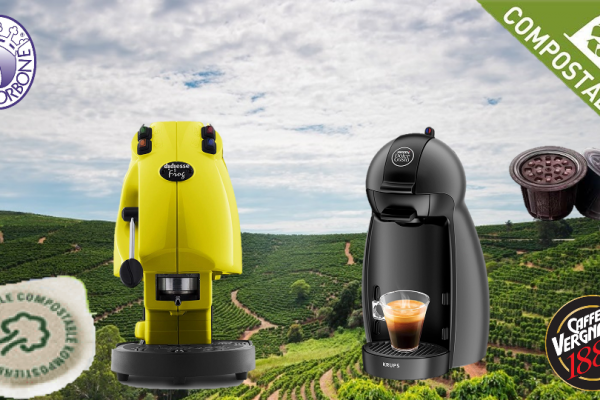 Capsule caffè compostabili Vergnano vs cialde Borbone
