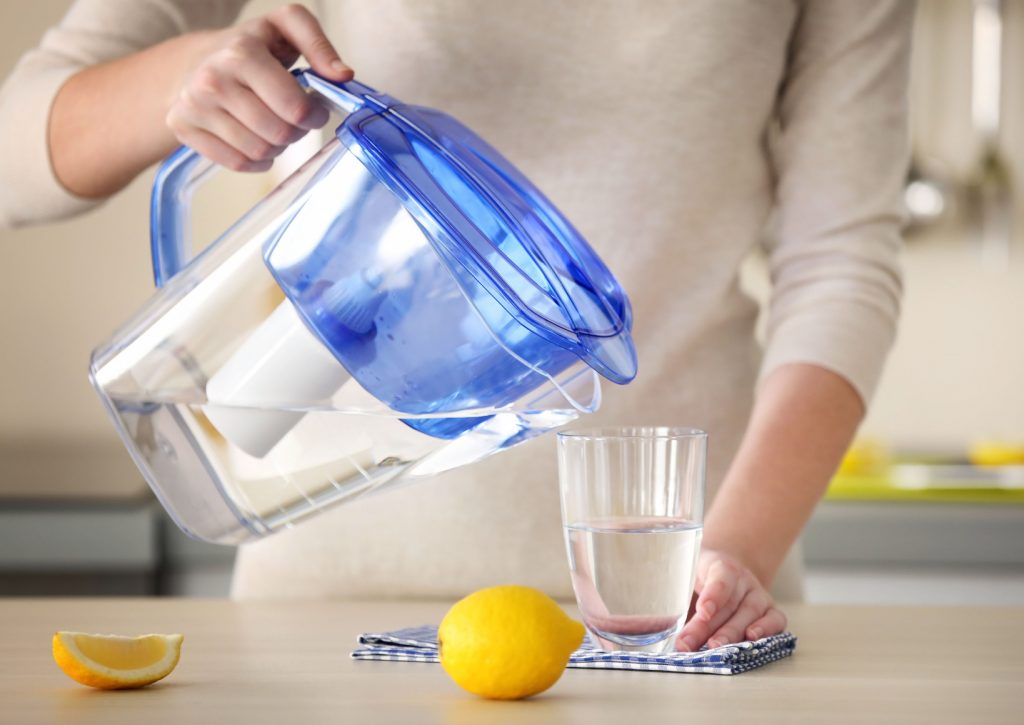 Caraffa filtrante per acqua
