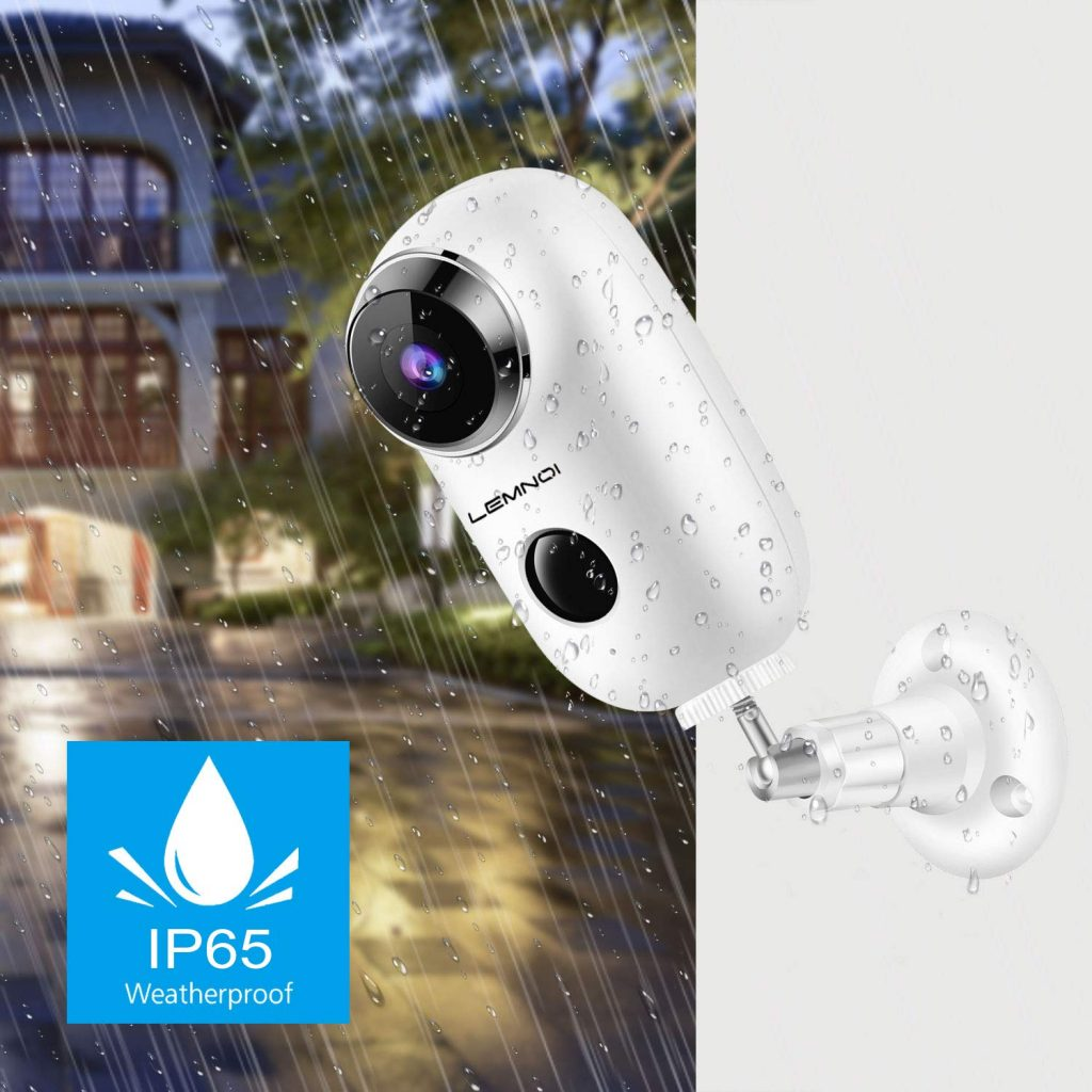 Lemnoi o Ctronics A3 telecamera wireless a batteria ricaricabile protezione IP65