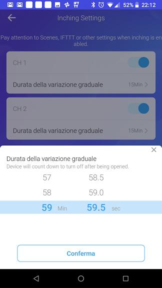 eWeLink Variazione Graduale (Inching)