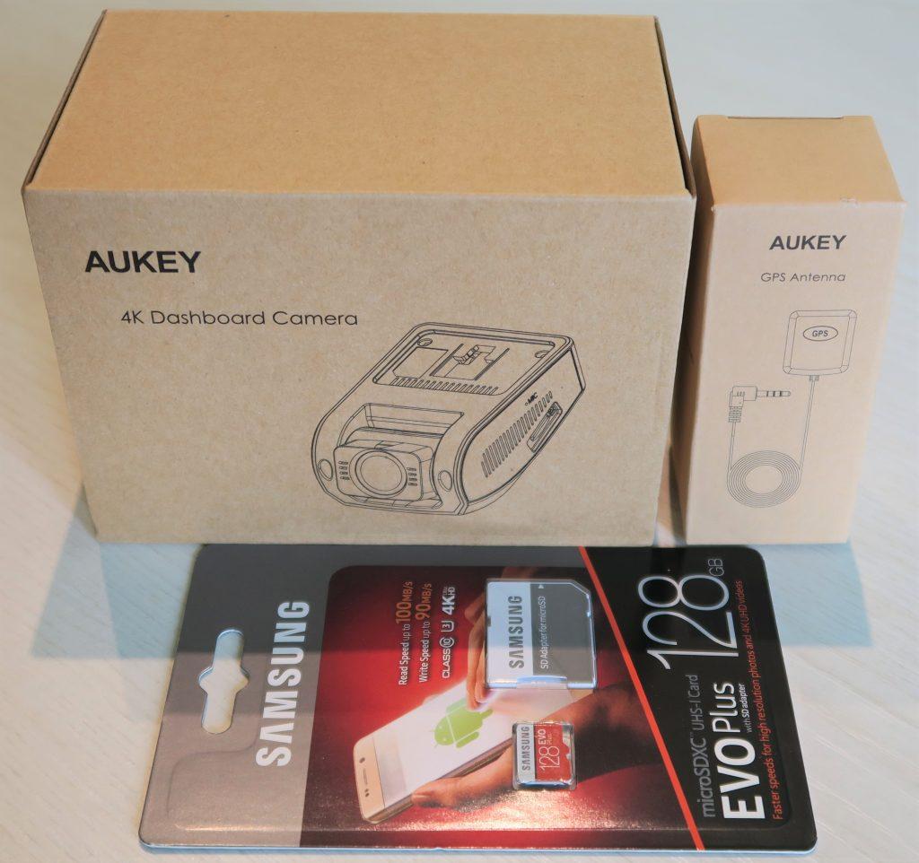 Unboxing Dash Cam Telecamera auto 4K Aukey DR02J
