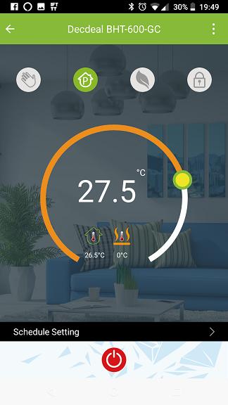 Termostato Decdeal BHT-6000-GC App Smart Life