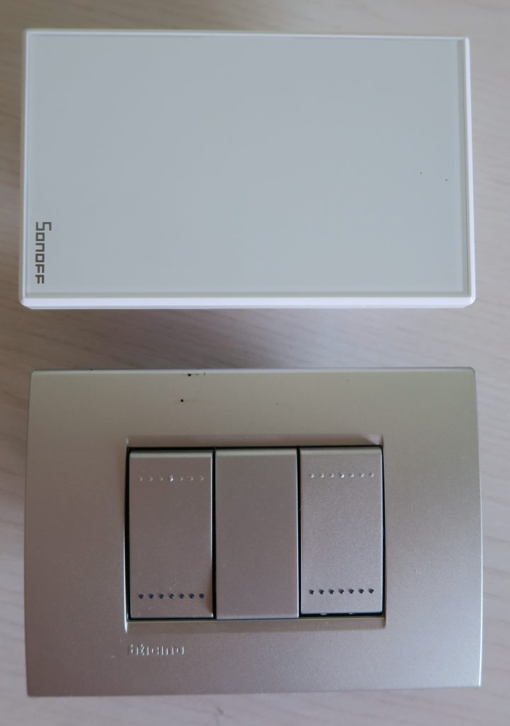 Sonoff TX US T0 vs scatola 503