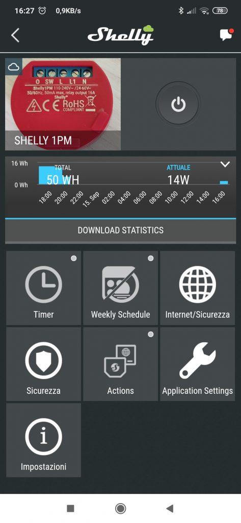 Shelly Cloud App