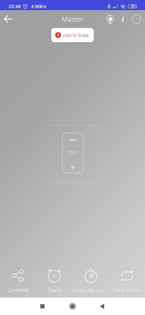 Sonoff dispositivo non in linea non si connette al WiFi