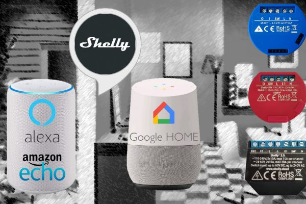 Shelly con Alexa e Google Home: controllare Shelly 1 e 2.5 con la voce