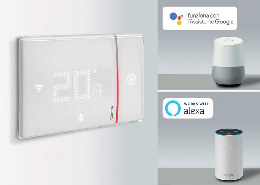Termostato BTicino Smarther Alexa e Google Home