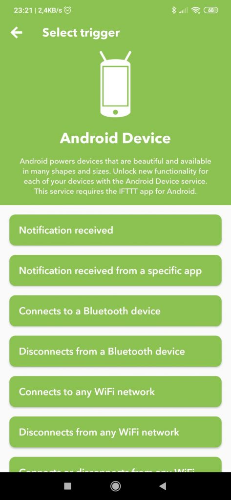 IFTTT Android Device