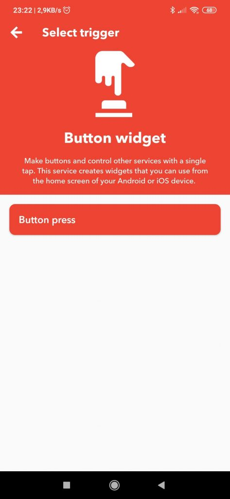 IFTTT Button widget