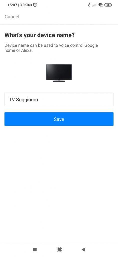 App Broadlink Universal Remote: duplicare telecomando TV ad infrarossi