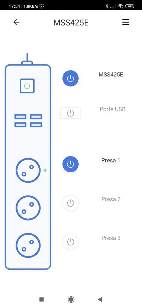 Multipresa intelligente WiFi Meross App