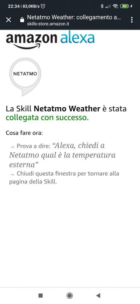 Stazione meteo Netatmo Alexa