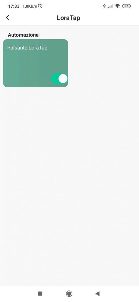Smart Life App scena automazione pulsante WiFi LoraTap