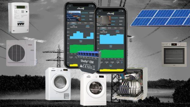 Shelly EM: monitoraggio, controllo e gestione carichi prioritari e fotovoltaico
