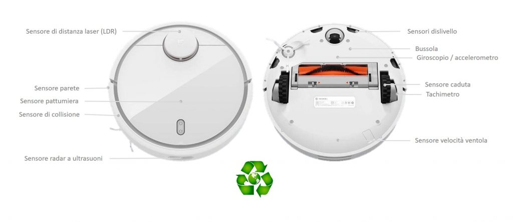 Robot aspirapolvere Xiaomi Mi Robot Vacuum 1 SDJQR02RR