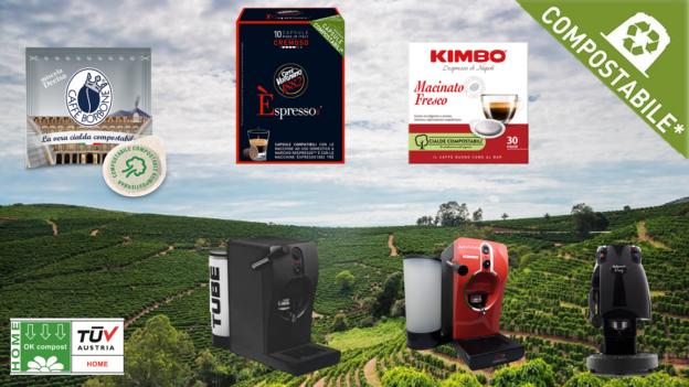Capsule e cialde caffè compostabili per macchina caffè: Borbone, Vergnano o Kimbo?