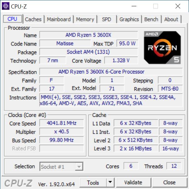 Configurazione PC gaming CPU AMD Ryzen 5 3600X